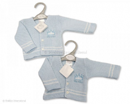 Tiny Baby V-Neck Cardigan - Little Prince
